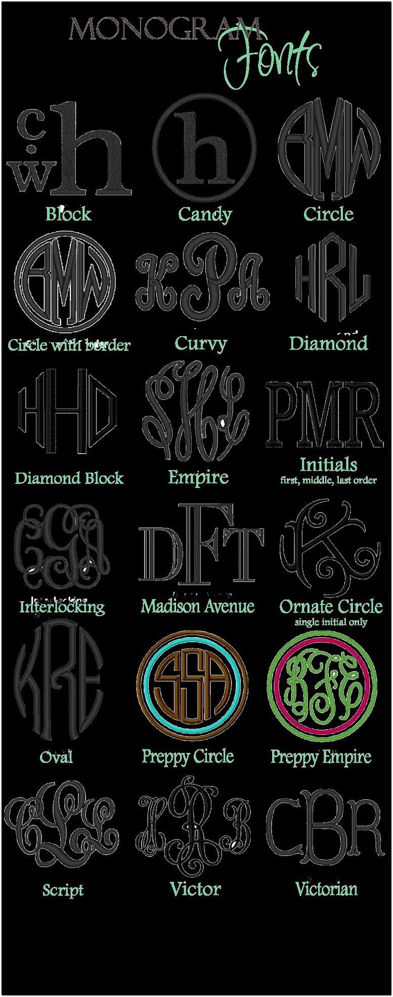 Monogram Fonts For Cricut