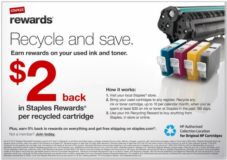 Staples Ink Cartridge Recycling