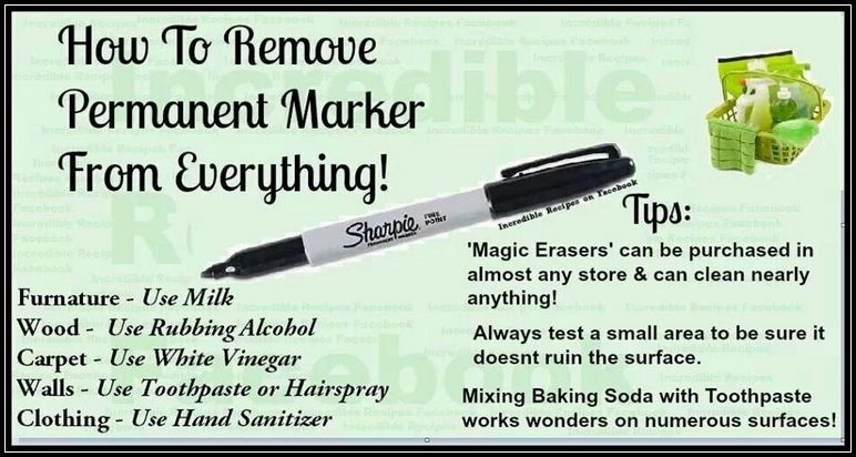 What Removes Permanent Marker